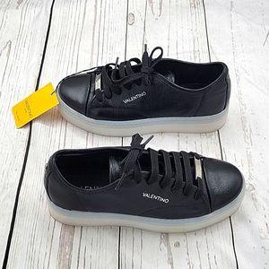 Valentino Black Dalia Leather Sneakers